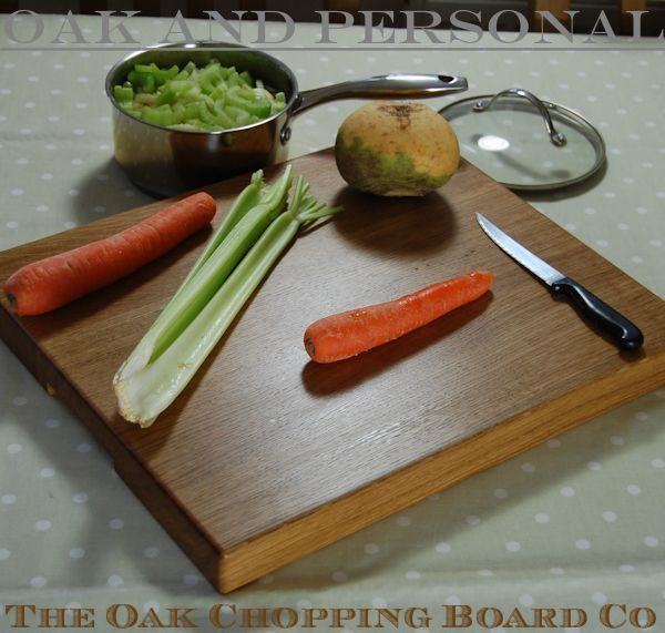 Extra large personalised wooden chopping board