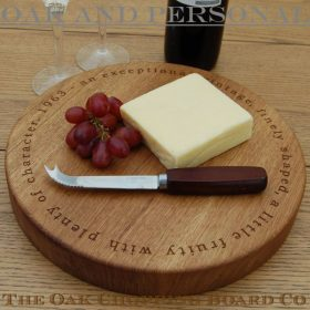 Circular cheese board, 30 dia x 4cm