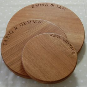 Round cheese boards, 23cm, 30cm, 38cm and (now) 42.5cm diameter