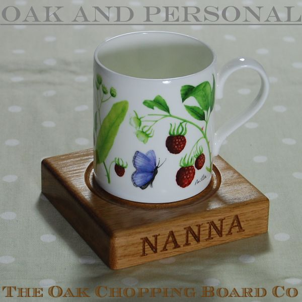 Personalised wooden coaster