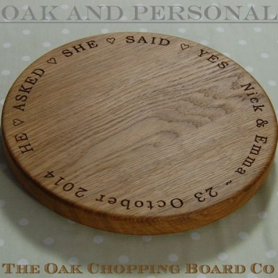 Personalised lazy susan, size 30 dia x 2.7cm, font Bookman Old Style