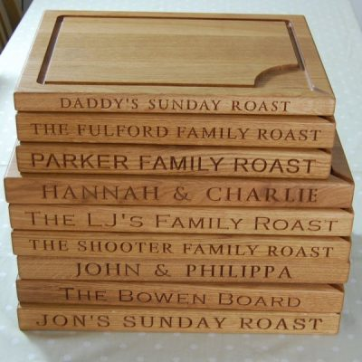Personalised carving board gifts - it's what we do best