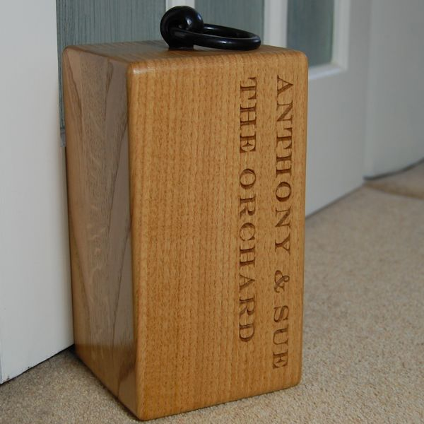 Personalised Door Stops Wooden Door Stops Oak And Personal