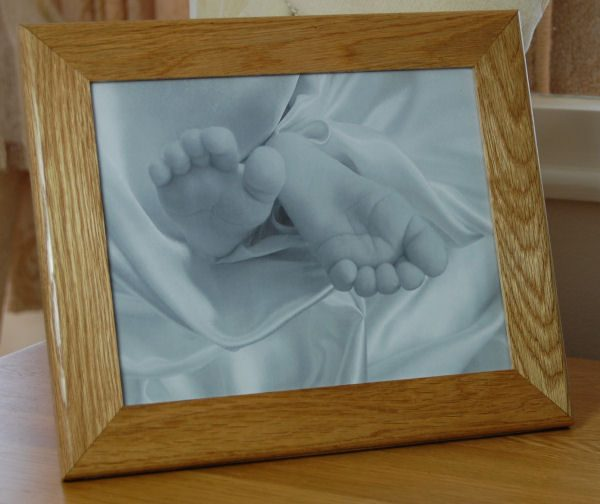 Engraved oak photo frame, add your own text and/or motif