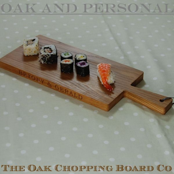Personalised rectangular paddle serving boards