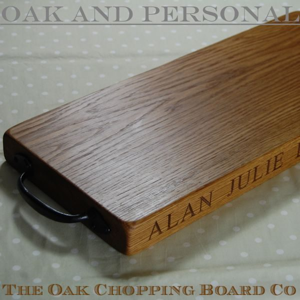 Rustic wooden serving board, font Times New Roman