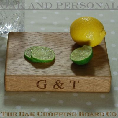 Personalised wooden gin & tonic board
