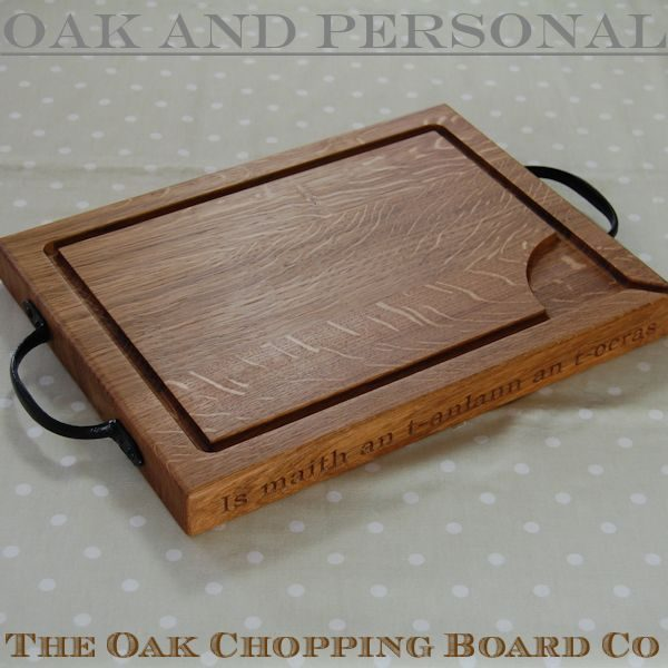 Personalised rustic wooden carving boards, size 30x40x4cm, font Bookman Old Style