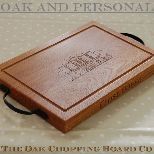 Personalised rustic chopping board, size 30x45x4cm, custom engraving