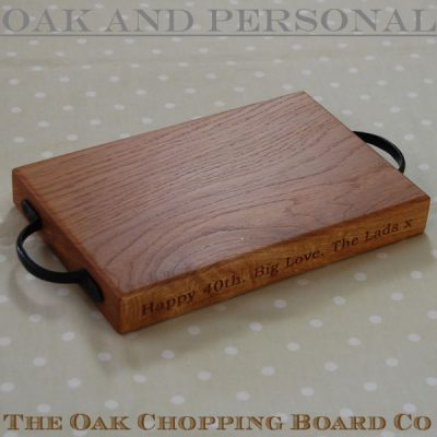 Personalised rustic wooden cheese boards, size 20x30x4cm, font Bookman Old Style