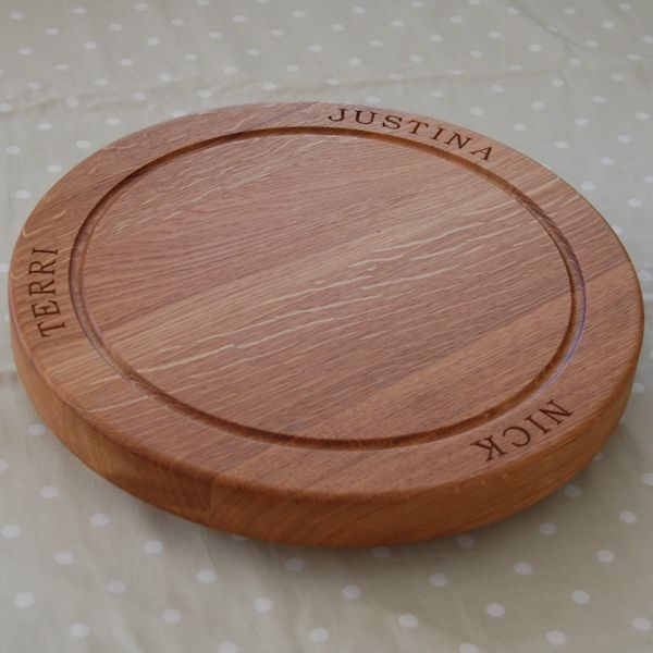 Lazy Susan Platter WIth Base 38 dia x 4cm, font Bookman Old Style