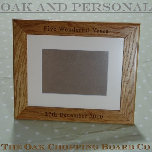 Personalised photo frame with optional mount, font Times New Roman