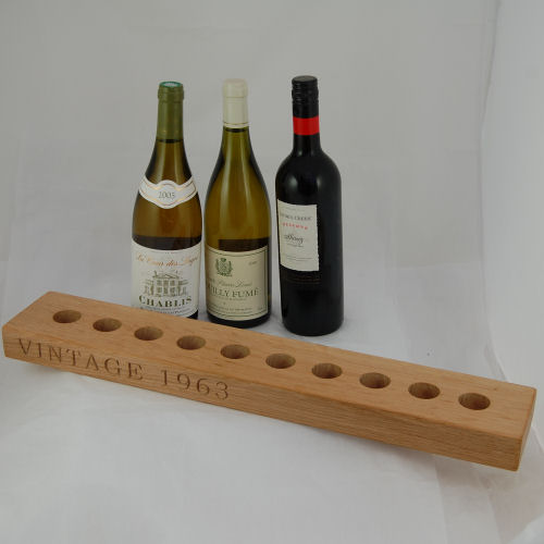 Personalised wooden wine rack (sorry, wine not included!)