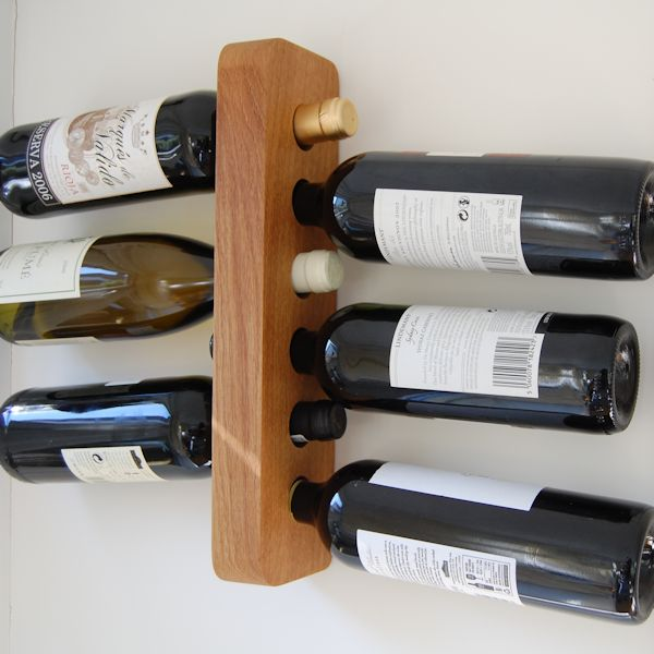 Personalised Wooden Wine Racks Wall Mounted Oak And Personal