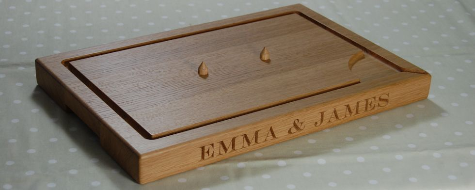 Personalised carving boards available with or without spikes