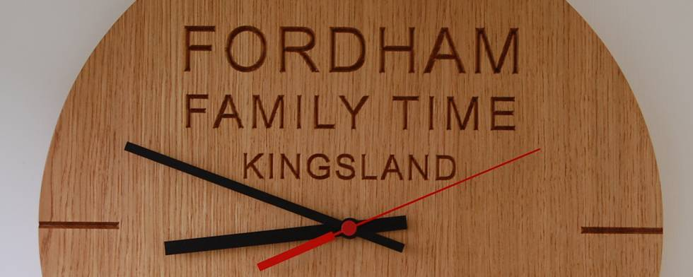 Hand made oak wall clocks with quality German-made quartz movements