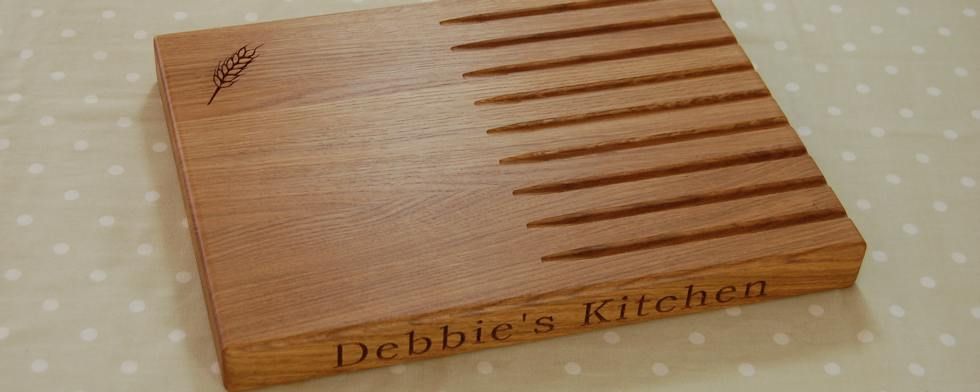 Beautiful and practical personalised bread boards