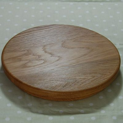 Circular wooden sink top chopping board, size 30x4cm