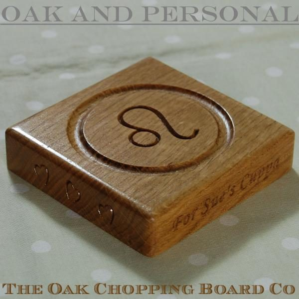 Personalised wooden birthday coaster - Leo